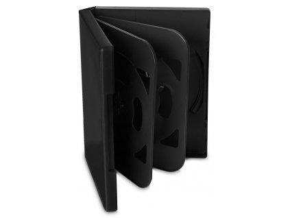 COVER IT box na 6ks DVD médií/ 24mm/ černý/ 5pack