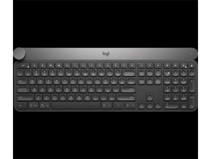 Logitech klávesnice Craft Advanced with Creative Input Dial, US, černá/ podsvícená/unifying/bluetooth/bezdrátová