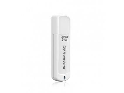 Transcend 64GB JetFlash 370, USB 2.0 flash disk, bílý