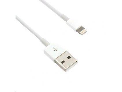 Kabel C-TECH USB 2.0 Lightning (IP5 a vyšší) nabíjecí a synchronizační kabel, 1m, bílý