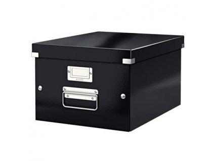 Univerzální krabice Leitz Click&Store, velikost M (A4), černá