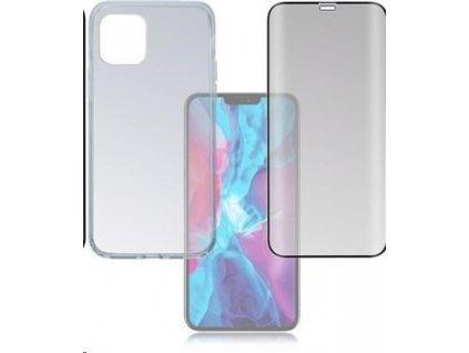 4smarts 360° Protection set (tvrzené sklo Full Frame černá + zadní kryt) pro Apple iPhone 12 / 12 Pro