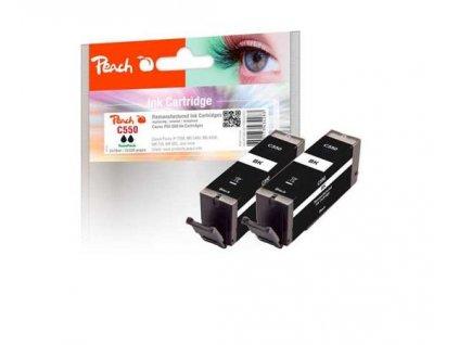 PEACH kompatibilní cartridge Canon PG-550 TwinPack, black, 2x13 ml