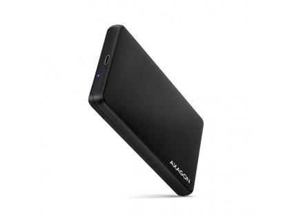 AXAGON EE25-SLC, USB-C 3.2 Gen 1 - SATA 6G 2.5'' SLIDE box, bezšroubkový, černý
