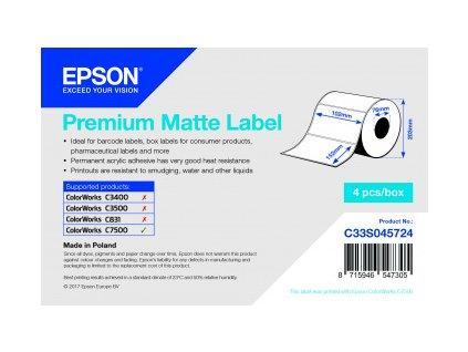 Premium Matte Label 102 x 152mm, 800 lab