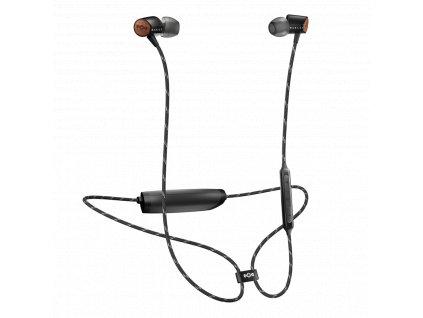 MARLEY Uplift 2 Wireless BT - Signature Black, bezdrátová sluchátka do uší s ovladačem a mikrofonem