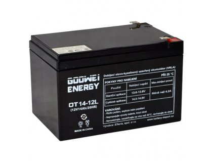 GOOWEI ENERGY Pb záložní akumulátor VRLA GEL 12V/14Ah (OTL14-12)
