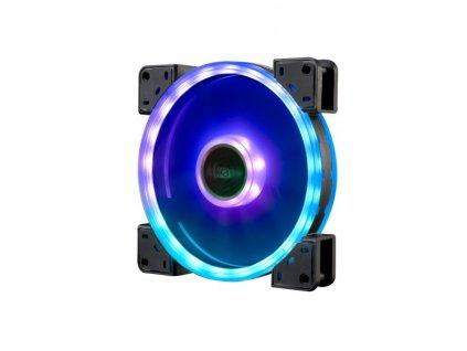 AKASA LED ventilátor Vegas TLY / AK-FN103 / 140mm / 3pin FAN / 3pin RGB LED / RGB LED