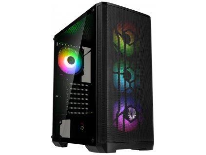 BitFenix skříň Nova Mesh SE TG ARGB / ATX / 4x120mm ARGB / USB 3.0 / tvrzené sklo / černá
