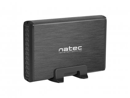 Externí box pro HDD 3,5'' USB 3.0 Natec Rhino, černý, včetně napájecího adaptéru