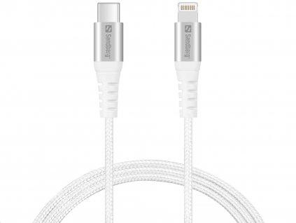 Sandberg datový kabel USB-C -> Lightning, délka 1 m, bílá