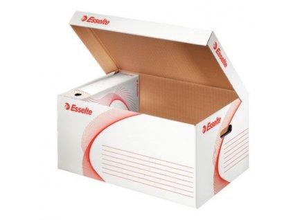 Esselte Standard archivační kontejner s víkem, bílá