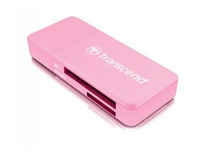 Transcend RDF5 USB 3.0 čtečka paměťových karet SDHC (UHS-I)/SDXC (UHS-I)/microSDHC (UHS-I)/microSDXC (UHS-I), růžová