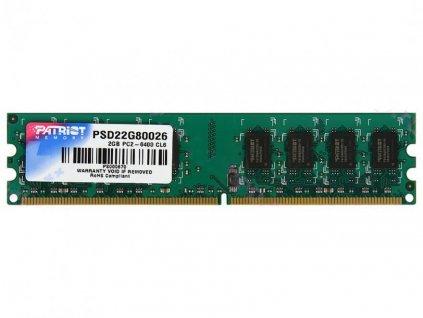 PATRIOT 2GB DDR2 800MHz / DIMM / CL6 / SL PC2-6400