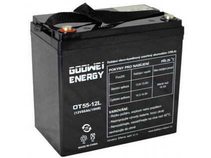 GOOWEI ENERGY Pb záložní akumulátor VRLA GEL 12V/55Ah (OTL55-12)