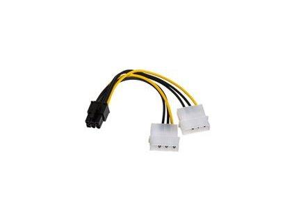 AKY AK-CA-13 Adapter 2x Molex / PCI-Express 6pin 15cm