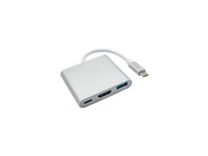 AKY AK-AD-57 Akyga Hub USB type-C AK-AD-57 USB A (f) / USB type-c / HDMI (f) 15 cm