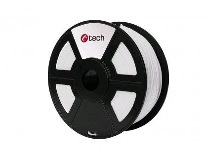 PETG filament bílá C-TECH, 1,75mm, 1kg
