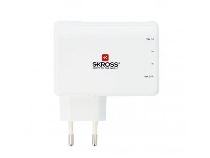 SKROSS Euro USB Charger 4x USB 5V 4.8A