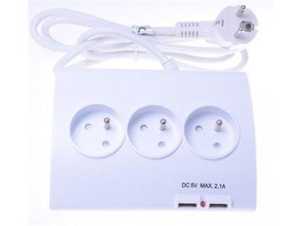 PremiumCord prodlužovací kabel ppd01 1,5m 5 zásuvek vypínač