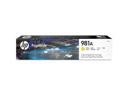 HP 981A originální inkoustová kazeta žlutá J3M70A