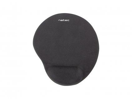 Podložka pod myš ergonomická gelová Natec Marmot, černá, 245x225 mm