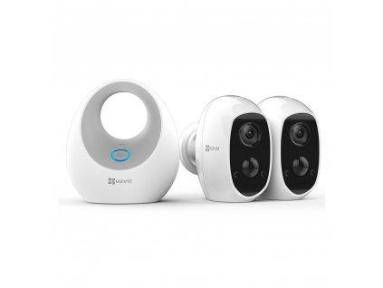 EZVIZ C3A Battery Camera Duo Pack (2x C3A+1x W2D)