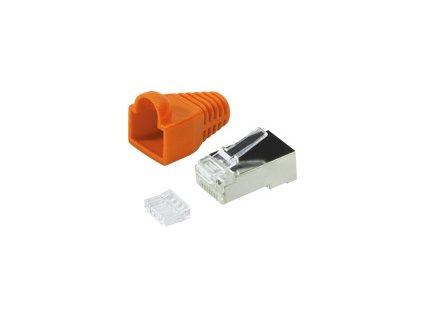 LOGILINK MP0022O LOGILINK - Plug Connector Cat.6 RJ45 100pcs. set, shielded, orange