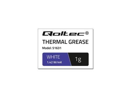 QOLTEC 51631 Qoltec teplovodivá pasta 1.42 W/m-K 1g White