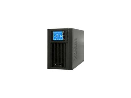QOLTEC 53042 Qoltec Nepřerušitelný zdroj napájení On-line 1kVA 800W LCD USB