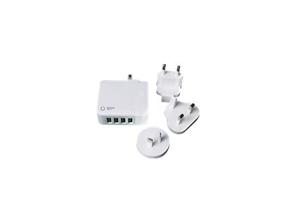 SILICON POWER Boost Charger WC104P 22W UK/EU/AUadapters Included