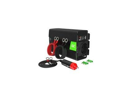 GREEN CELL Měnič napětí do auta 12V na 230V 300W/600W