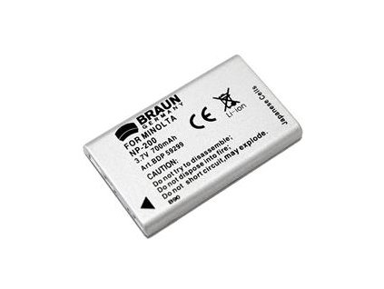 Braun akumulátor MINOLTA NP-200, 700mAh