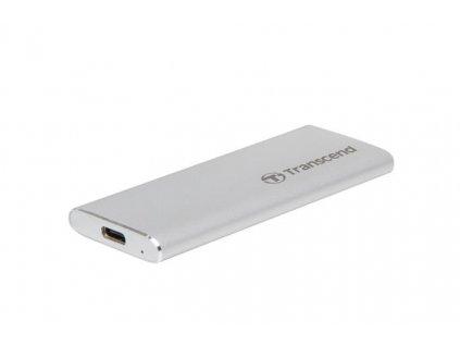 Transcend ESD240C 120GB USB 3.1 Gen2 (USB-C) Externí SSD disk (3D TLC), 520MB/R, 400MB/W, kompaktní rozměry, stříbrný