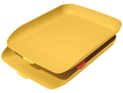 Odkladač na dokumenty s organizérem Leitz Cosy set 2 ks teplá žlutá