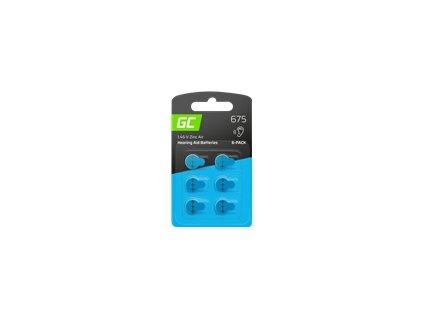 GREEN CELL 6x hearing aid battery Type 675 P675 PR44 ZL1 ZincAir