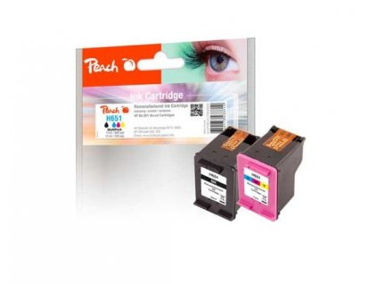 PEACH kompatibilní cartridge HP No 651 MultiPack, black, color