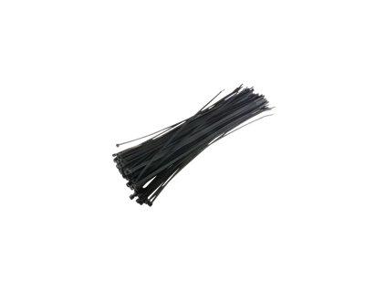 TECHLY 306509 Techly Nylonové vázací pásky 280 x 4.8mm 100ks. černé