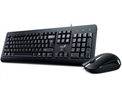GENIUS KM-160/ Drátový set/ USB/ černá/ CZ+SK layout