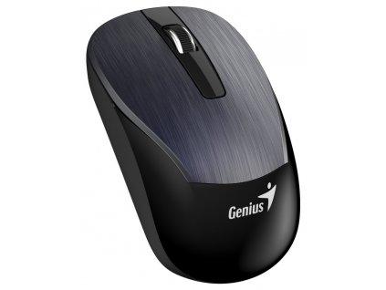 Genius ECO-8015 Myš, bezdrátová, optická, 1600dpi, dobíjecí,USB, kovově šedá