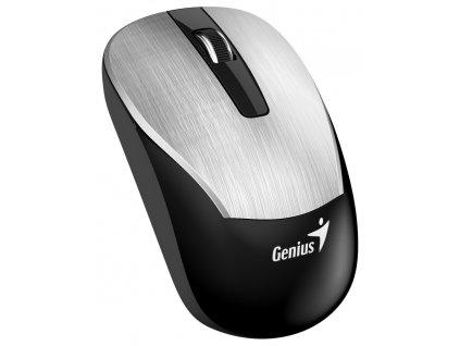 Genius ECO-8015 Myš, bezdrátová, optická, 1600dpi, dobíjecí,USB, stříbrná
