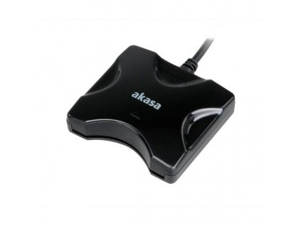 AKASA externí čtečka bankovních karet / AK-CR-03BK / USB2.0 / černá