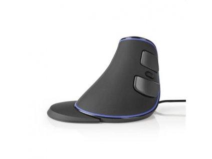Nedis ERGOMSWD200BK - Ergonomic Wired Mouse   1600 DPI   6-Button   Black
