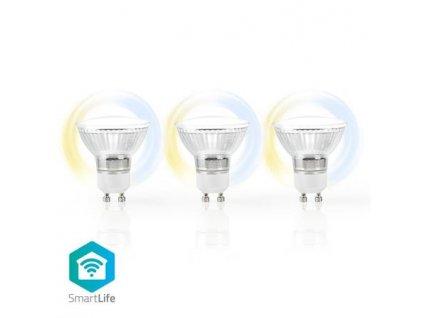 Nedis WIFILW30CRGU10 - SmartLife LED žárovka | Wi-Fi | GU10 | 400 lm | 5 W | Studená-Teplá Bílá | A+ | Android | 3PACK