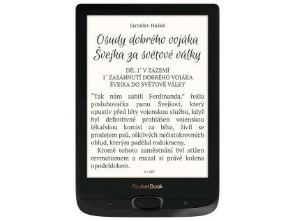 """POCKETBOOK e-book reader 616 Basic Lux 2/ 8GB/ 6""""/ Wi-Fi/ micro SD/ micro USB/ čeština/ černá (obsidián)"""