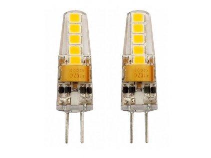 TESLA LED žárovka/ G4/ 2W/ 12V DC/ 200lm/ 3000K/ teplá bílá (2pack)