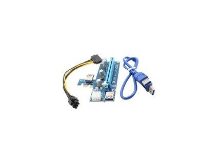 QOLTEC 55501 Qoltec Riser PCi-E 1x - 16x USB 3.0 SATA/ PCI-E 6pin