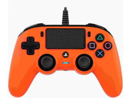 Nacon Wired Compact Controller - ovladač pro PlayStation 4 - oranžový