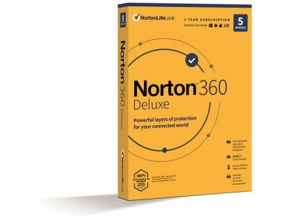 NORTON 360 DELUXE 50GB +VPN 1 uživatel pro 5 zařízení na 1rok - ESD