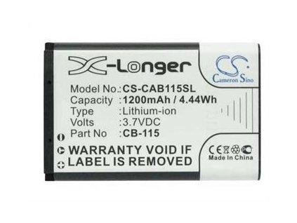 Baterie pro Caterpillar CAT B100 1200mAh, Li-ion